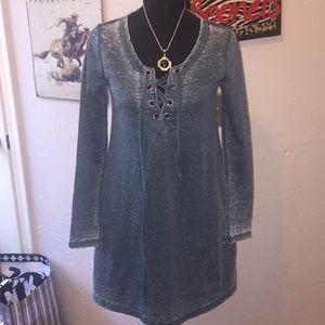 Altar'd State faded sage green long sleeve dress